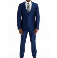 Men's Cranston 3 Piece Suit - Marco Benetti - Cobalt Blue Photo