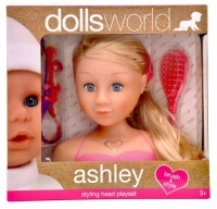 Dollsworld - Ashley Styling Head Playset Includes Brush Hair Clips Beads Hair Extensions and Ring Photo