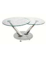 Selency Glass Swivel Coffee Table - White Photo