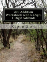 200 Addition Worksheets with 5-Digit 1-Digit Addends Photo