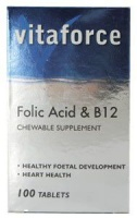 Vitaforce Folic Acid & B12 Tablets 100 Photo