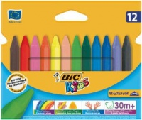 BIC Kids Plastidecor Triangle 12 Crayons Photo