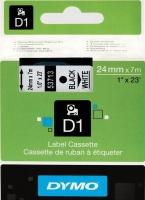 Dymo D1 Standard 24mm x 7m Black on White Label Cassette Photo