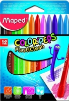 Maped Color'Peps 12 PlastiClean Crayons Photo