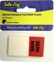Sellotape Sello-Flag Repositionable PP Flags - Sign Here Photo