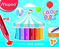Maped Color'Peps Triangular Maxi Wax Crayons 12's Photo