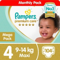 Pampers Premium Care - Size 4 Mega Pack - 104 Nappies Photo