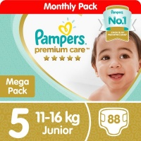 Pampers Premium Care - Size 5 Mega Pack - 88 Nappies Photo