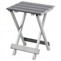 OZtrail - Aluminium Fold-Up Stool - Silver Photo