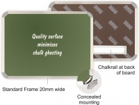 Parrot Chalk Board Aluminium Frame - Non-Magnetic Photo