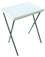 Leisure-Quip - Folding Picnic Table - White & Grey Photo