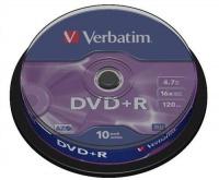 Verbatim DVD R 4.7GB Matt Silver - 10 Pack Spindle Photo