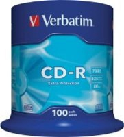 Verbatim 700MB CD-R Extra Protection Non AZO Spindle - Pack of 100 Photo