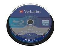 Verbatim Blu-ay 25GB Disc - 10 Pack Spindle Photo