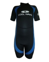 Coolwave Junior Short Wetsuit - Blue And Black Photo