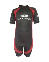 Coolwave Junior Short Wetsuit - Red/Black Photo