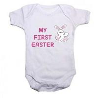 Noveltees My First Easter Body Vest - Pink Photo