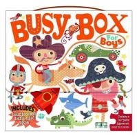 Busy Box for Boys- Book and Jigsaw Puzzle Set Photo