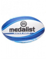 Medalist Super Grip Rugby Ball Size 5 - Blue/White Photo