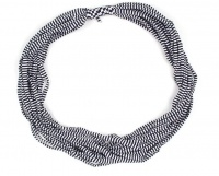 The Earth Collection Short Scarf Neckless - Sapphire Stripe Photo