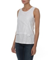 The Earth Collection Woven Layer Top - White Photo