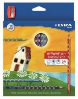 Lyra Groove Slim 24 Colour Pencils Sharpener Photo