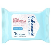 JOHNSON'S Cleansing Wipes Daily Essentials Moisturising Dry Skin Pack of 25 wipes Photo