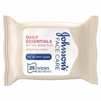 JOHNSON'S Cleansing Wipes Daily Essentials Refreshing Normal Skin Pack of 25 wipes Photo