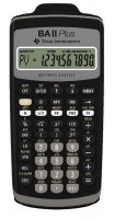 Texas Instruments BA 2 Plus Financial Calculator - Black Photo