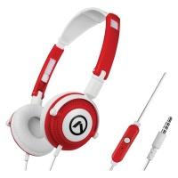Amplify Symphony Headphones with Mic - Red/White Photo
