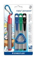 Staedtler Triplus Permanent Markers Chisel Tip - Blister of 4 Photo