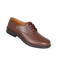 Toughees Hank Boys Lace Up Genuine Leather School Shoe - Brown Photo