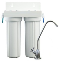 Double under counter Water Filtration System with GAC/KDF filter Photo