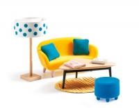 Djeco Doll House The Orange Living Room Playset Photo