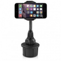 Macally - Adjustable Car Cup Holder Mount for iPhone Smartphone and Mobile Phone - XL long neck Photo