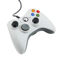 Generic Controller For Microsoft Xbox 360 / 360 Live / 360 Slim-Wired - White Photo