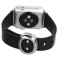 Apple Tuff-Luv Classic Buckle Genuine Leather WatchBand for the Watch 38mm - Black Cellphone Photo
