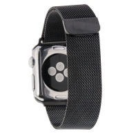 Apple Tuff-Luv Magnetic Stainless Steel Watchband for Watch 38mm - Black Cellphone Photo