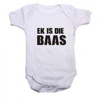 Noveltees Ek is die Baas Short Sleeve Baby Grow Photo