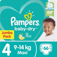 Pampers Baby Dry - Size 4 Jumbo Pack - 66 Nappies Photo
