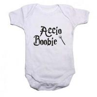 Noveltees Accio Boobie Short Sleeved Body Vest - White Photo