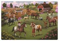 Green Start 100 Piece Puzzle Horse Adventure Photo