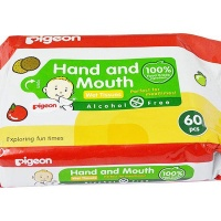 Pigeon - Hand and Mouth Wipes 2-in-1 - 60 Piece Photo