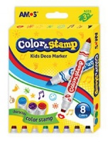 Amos Color & Stamp 8 Deco Markers Photo