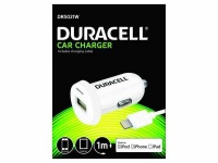 Apple Duracell Single USB Car Charger 2.4A MFi Lightning Cable - White Photo