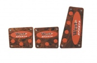 X-Appeal Pedal Pad Set - Brown & Red Photo