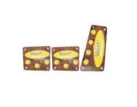 X-Appeal Pedal Pad Set - Brown & Yellow Photo