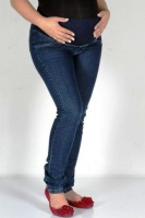 Absolute Maternity Skinny Maternity Jeans with Overtummy Band - Denim Photo