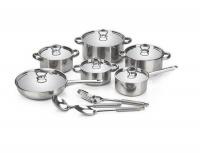 Chukbok 15 Piece Heavy Bottom Stainless Steel Cookware Set Photo