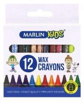 Marlin Kids 12 8mm Wax Crayons Photo